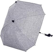 ABC Design Universal Sonnenschirm Sunny – für Kinderwagen und Buggy – UV-Schutz 50 – Universalhalterung für Rund- und Ovalrohre – Farbe: graphite grey