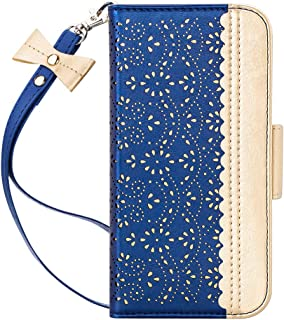WWW iPhone 11 Pro Case,iPhone 11 Pro Wallet Case,[Luxurious Romantic Carved Flower] Leather Wallet Case with [Inside Makeup Mirror] [Kickstand Feature] for iPhone 11 Pro 5.8