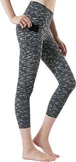 TSLA Women's Capri Yoga Pants, Workout Running Tights, 4-Way Stretch Leggings with Hidden/Side Pocket