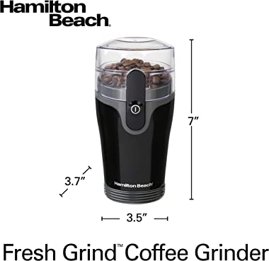 Hamilton Beach Fresh Grind Electric Coffee Grinder for Beans, Spices and More, Stainless Steel Blades, Removable Chamber, Mak