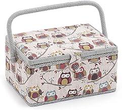 HobbyGift Średnie pudełko do szycia, mieszanka bawełny, wielokolorowe, 19 x 26 x 15 cm