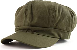Armycrew Women's Lightweight 100% Cotton Soft Fit Newsboy Cap with Elastic Back