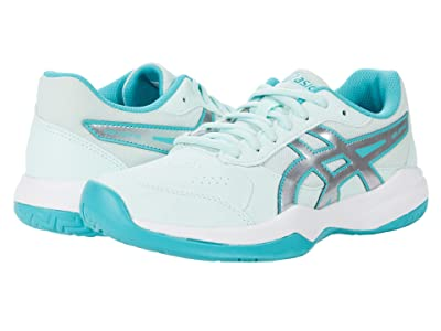 ASICS Kids GEL-Game 7 Tennis (Little Kid/Big Kid) (Bio Mint/Pure Silver) Girls Shoes