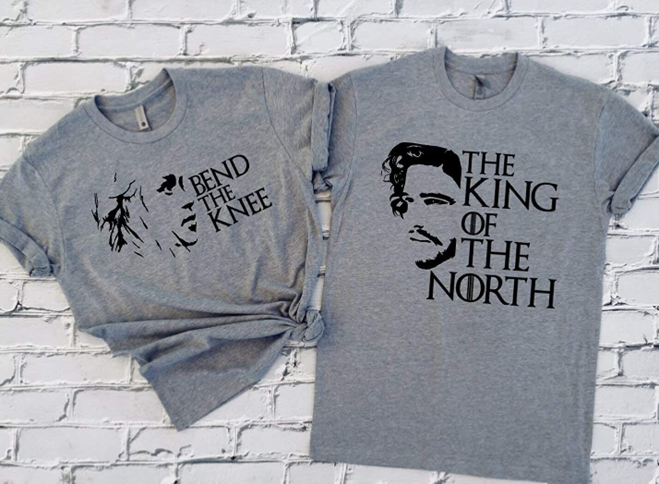 Game Of Thrones Inspired Matching Shirts, Jon Snow King Of The North Khaleesi Shirt