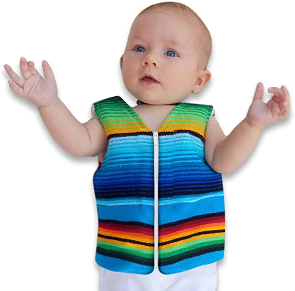 Handmade Baby Vest From Mexican Serape Blanket Baby Shower Gifts For Boy Or Girl Newborn Baby Clothes
