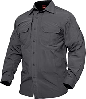Men's Quick Dry Breathable Long Sleeve Anti-Rip Shirt for Work Travel Military