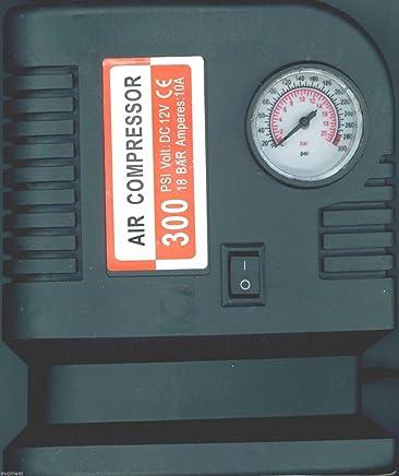 PrimeTrendz TM Air Compressor Portable Pump 300 PSI Auto Car SUV Tire 12V volt + 3