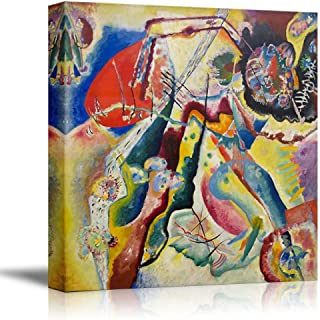 wall26 - Bild mit rotem Fleck by Wassily Kandinsky - Canvas Print Wall Art Famous Painting Reproduction - 24