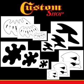 Custom Shop Complete Live Fire Stencil Design Set – Includes 3 Sizes of All 4 Flame Elements