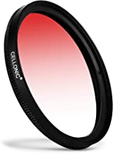 CELLONIC   Graduated color filter Red compatible with Nikon Nikkor 58mm Gradient Filter