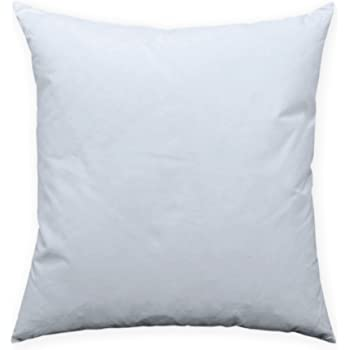 Relleno de cojín de plumas, # 242 (80 x 80), algodón, weiß, 40 x 40: Amazon.es: Hogar