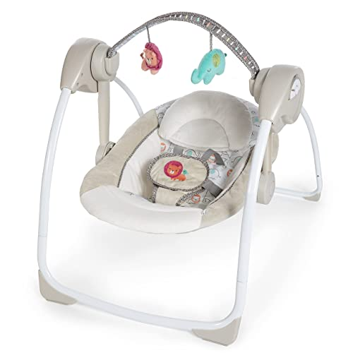 Ingenuity Soothe 'n Delight Portable Baby Swing - Best Swing For Baby Girl
