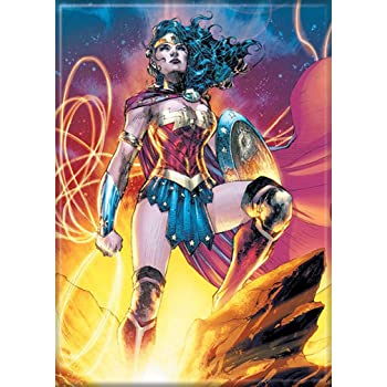 Ata-Boy DC Comics Classic Wonder Woman Close Up 2.5 x 3.5 Magnet for Refrigerators and Lockers 24083DC