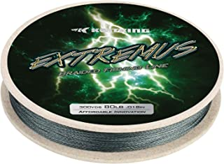 KastKing Extremus Braided Fishing Line, Highly Abrasion Resistant 4-Strand Braided Lines, Thin Diameter, Zero Stretch, Zero Memory, Easy Casting, Great Knot Strength, Color Fast