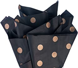 Tissue Paper Gold Polka Dot Black Gift Wrapping Paper for DIY Crafts,Pack Bags - 25 Sheets
