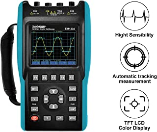 all-sun 2 in 1 Handheld Oscilloscope with Color Screen Dual Channel Scope Muti Meter 25MHz