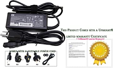 HP ED494AA AC Smart power adapter (65-watt) - 100-240VAC input, 47-63Hz - 18.5VDC output, 65 watts - Includes detachable 3-wire AC power cord with C5 connector, and includes dongle for use with older, non-Smart compatible notebook PC's