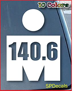 spdecals Triathlon Logo 140.6 Car 7