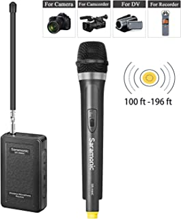 Saramonic SR-WM4CA Portable Wireless VHF Handheld Microphone System for Canon Nikon DSLR Camera Video Camcorder BlackMagic Zoom Tascam Recorder Interview Vblog Speech Facebook Video