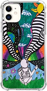 Hippie Astronaut Space Planets Case for iPhone 12/12 Pro, Cool Aesthetic Indie Tie Dye Astronaut Case for iPhone 12/12 Pro...