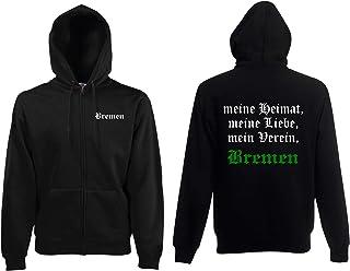 world-of-shirt / Bremen Herren Kapuzenjacke Meine Heimat