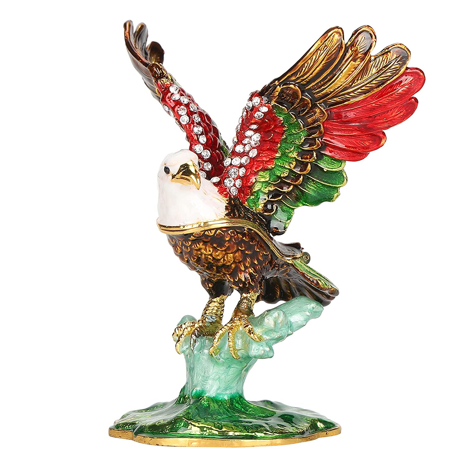 Sales of Max 70% OFF SALE items from new works Eagle Model Craft Figurine Painted Enamel for Hand‑Made
