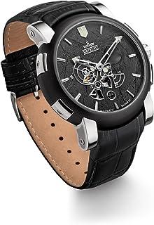 Kronsegler - Meteorito Automático Reloj de Acero Negro/Negro edición Limitada con Meteorito Rocas