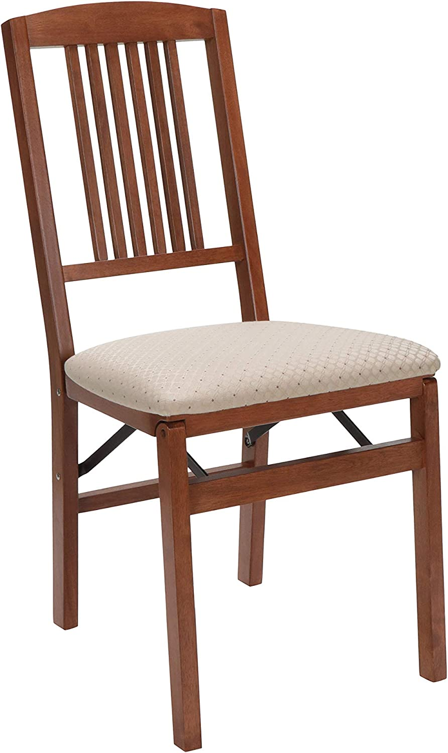 Stakmore Simple Mission Folding Chair Finish, Set of 2, Cherry