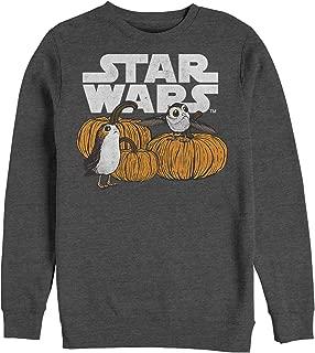Star Wars Men's Licensed Halloween Pumpkin Patch PORG Crew Fleece, Charcoal Heather, x-Large