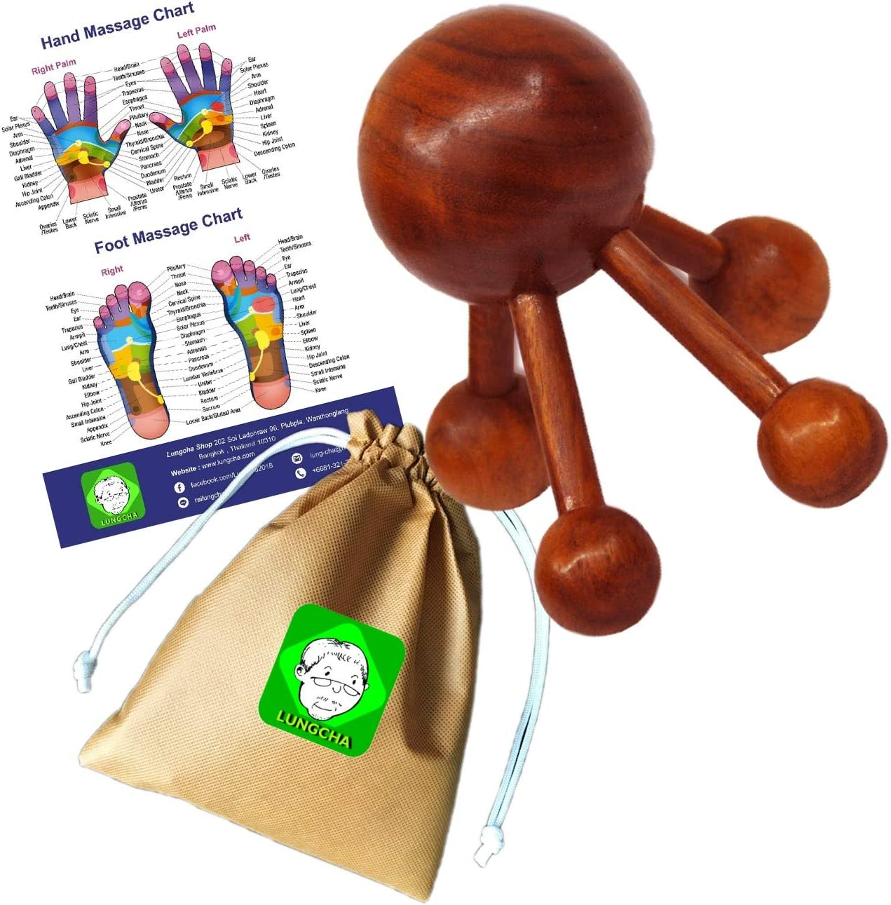 Lungcha Traditional Award Thai Massage 67% OFF of fixed price Reflexology Tool Wooden Stick