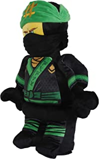 Lego Ninjago Lloyd Warrior Character Shaped Soft Plush Cuddle Pillow, Green/Black