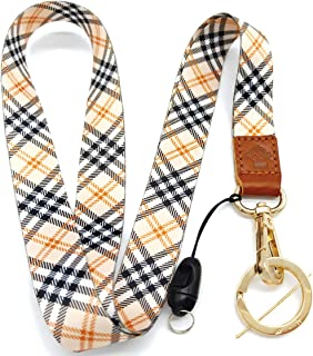 H.M Golden Series Neck Lanyard with ID Holder/Key Chain Holder/Mobile Phone/Wallet etc (Lattice)