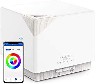 ASAKUKI Smart Wi-Fi Essential Oil Diffuser, App Remote Control Compatible with Alexa, 700mL Aromatherapy Humidifier for Ai...