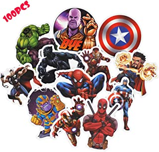 Marvel Stickers for Kids(100pcs),Superheros Stickers for Water Bottles,Hydro Flask,Vinyl Stickers for Laptop Skateboard Luggage Decal Graffiti Patches Stickers in Bulk