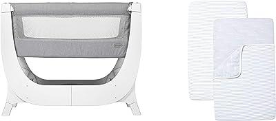 BEABA by Shnuggle Air Bedside Sleeper and Infant Crib + Bedding Set