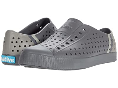 Native Kids Shoes Jefferson Block (Little Kid/Big Kid) (Dublin Grey/Dublin Grey/Rocky Stripe) Kids Shoes