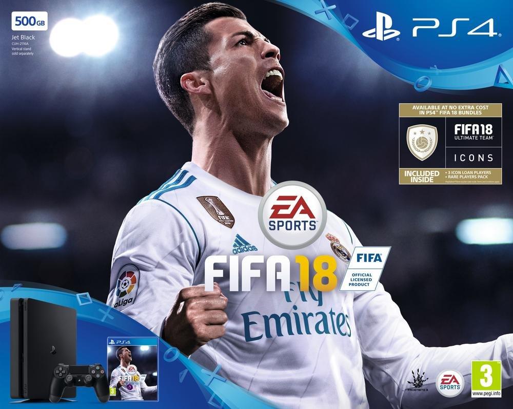 PS4 Slim 500Go + FIFA 18 [Importación francesa]: Amazon.es: Videojuegos