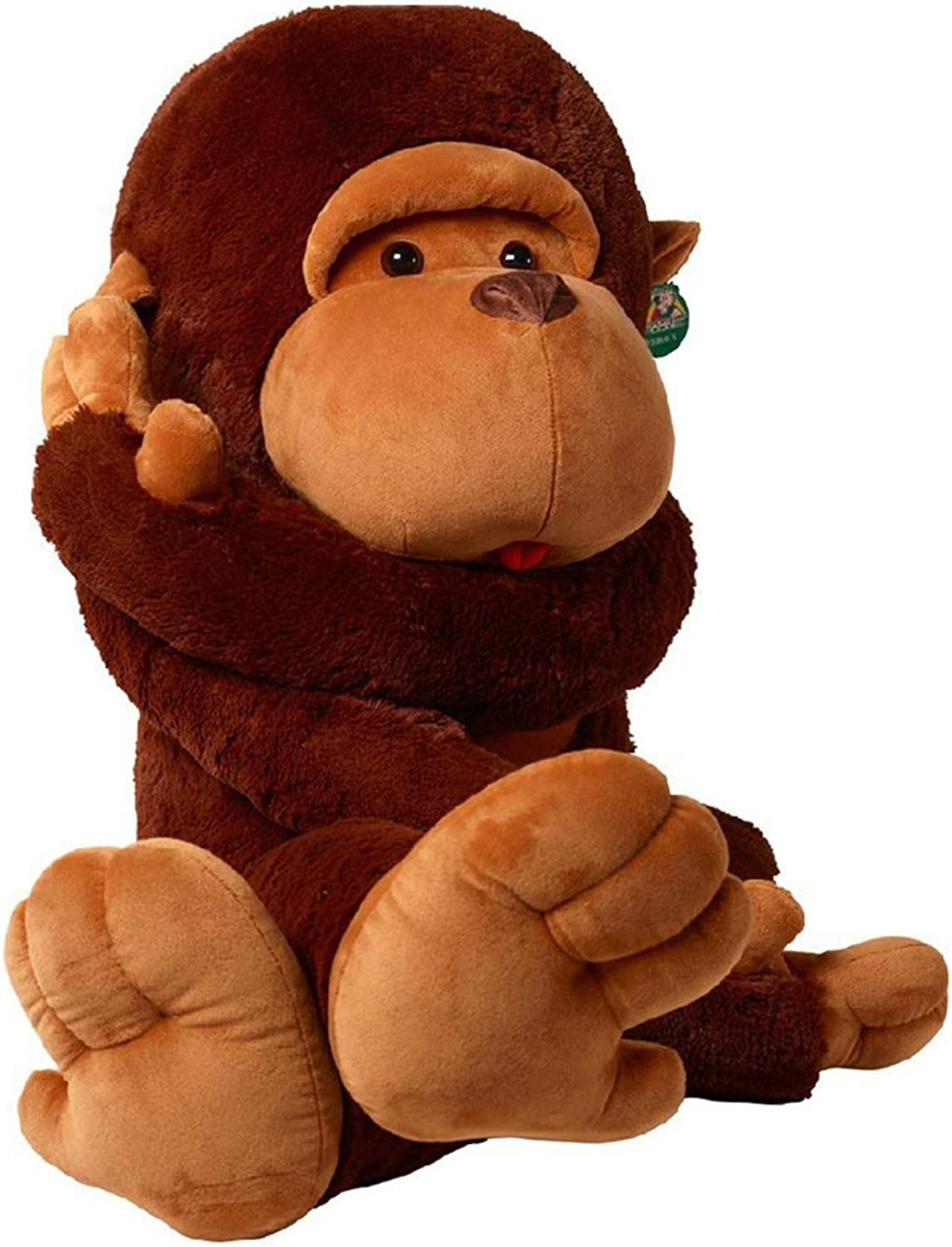 110Cm Adorable The Giant Monkey Plush Toy Soft Stuffed Animal Doll Birthday And Christmas Gifts (Coffee)