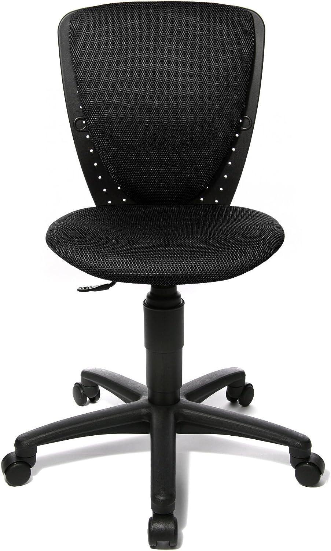 Topstar 70570BB00 High S'cool, Kinder- und Jugenddrehstuhl, Schreibtischstuhl für Kinder, Bezugsstoff schwarz