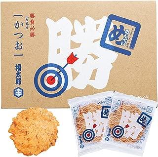 博多土産 勝つめんべい(辛子めんたい風味せんべい) かつお 16袋(32枚)入り