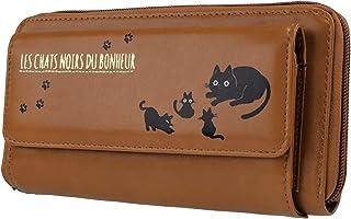 ファイン 長財布 ポシェット キャッツノワール お財布ポシェット キャメル かわいい ネコ柄 FIN-776CA