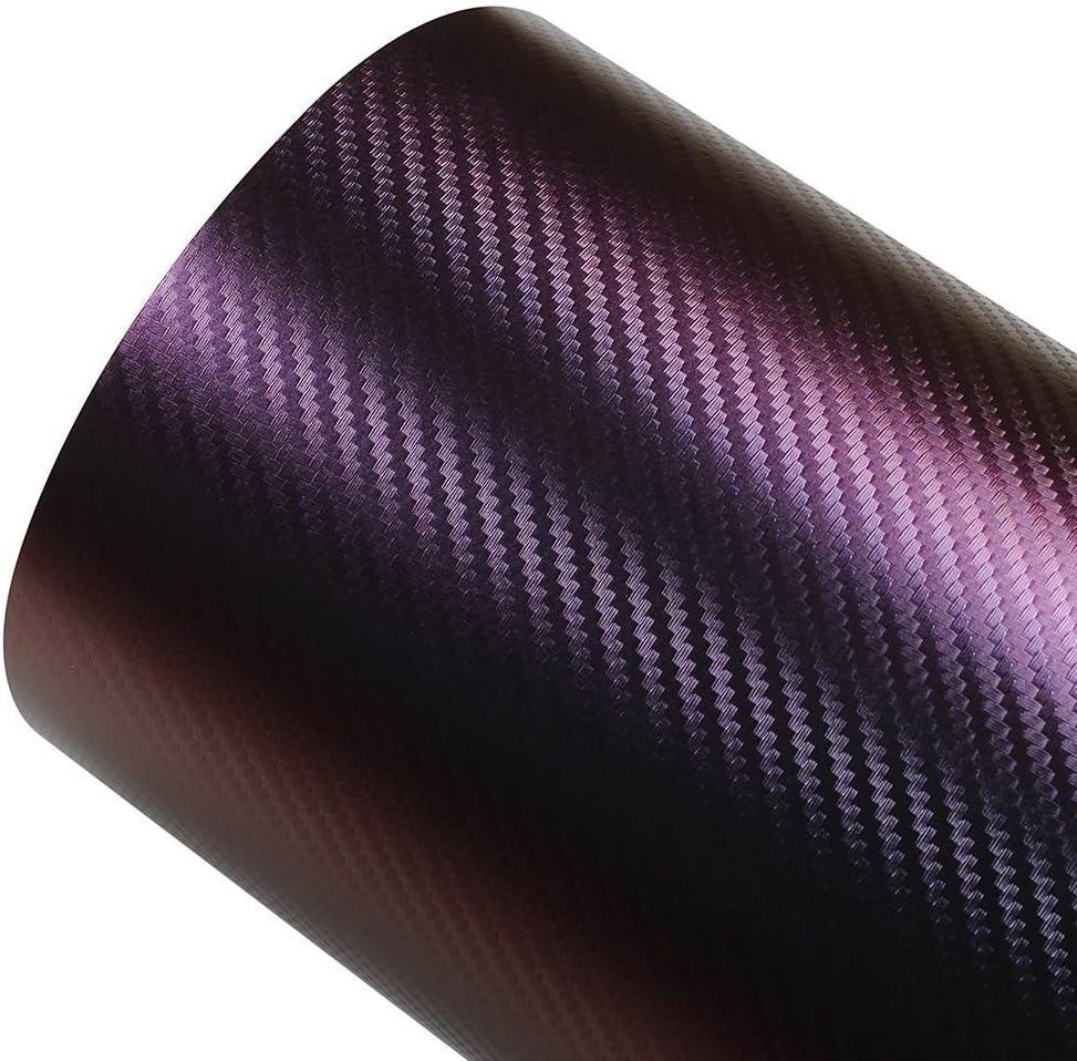 30cm x 152cm ATMOMO Purple and Blue Car Chameleon Wrap Auto Carbon Fiber Wrapping Film Vehicle Change Color Sticker Tint Vinyl Air Bubble Free