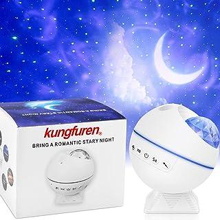 Proyector de estrella LED, proyector de luz kungfuren Galaxy con nube de nebulosa LED, ajuste de ángulo de proyección de 120°, proyector de luz nocturna para decoración de fiesta, Navidad y habitación