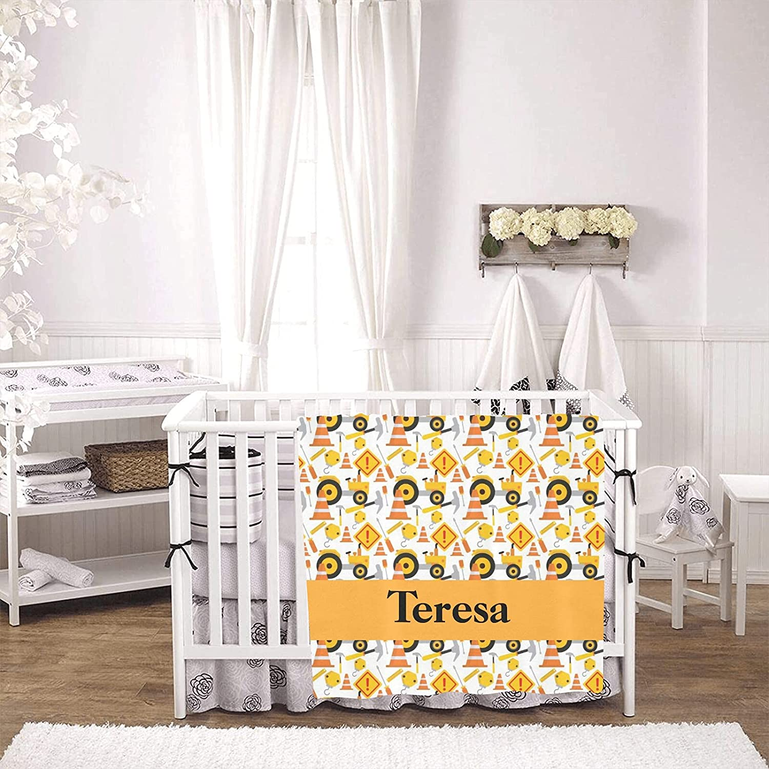 Seattle Mall Road Construction Personalized Ranking TOP3 Baby Blanket Boy and Girl Nursery
