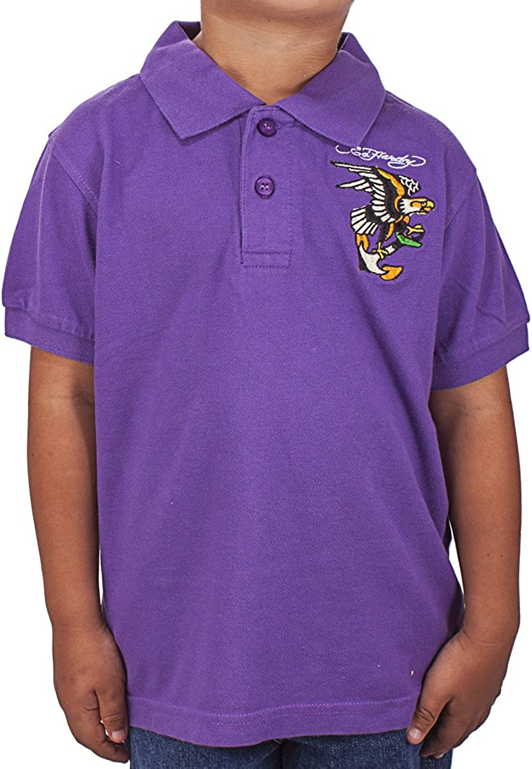 Ed Hardy Little Boys Girls Toddler Animal Graphic Cotton Polo T-Shirt