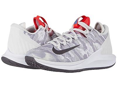 Nike Court Air Zoom Zero HC (Platinum Tint/Thunder Grey/Laser Crimson) Women