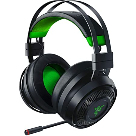 Razer Nari Ultimate for Xbox One Wireless 7.1 Surround Sound Gaming Headset: HyperSense Haptic Feedback - Auto-Adjust Headband - Retractable Mic – For Xbox One, Xbox Series X & S - Black/Green