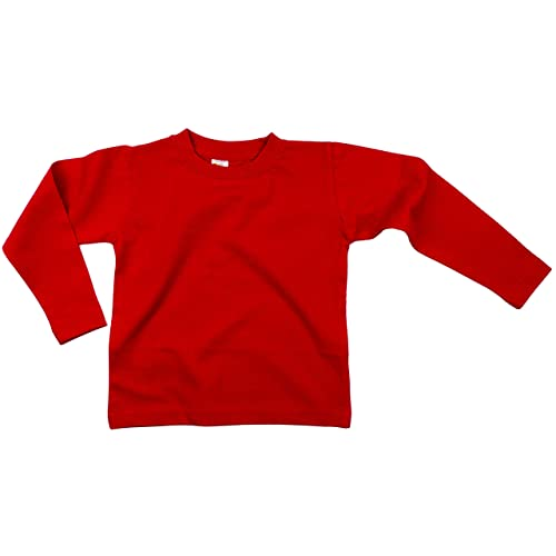 T Shirt Tee Girls Toddler Baby Girl Long Sleeve Top Cotton Blouse 12 Months Red