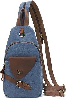 Canvas Sling Bag Crossbody Rucksack Schulter Casual Rucksack für Männer Frauen