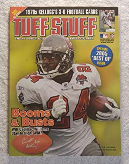 Carnell Williams - Tampa Bay Buccaneers - Tuff Stuff Magazine - 2005 Year in Review - 1970s Kellogg's 3-D Football Cards article